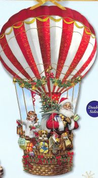 Alison Gardener Victorian hot air balloon Santa Claus advent calendar Barbara Behr
