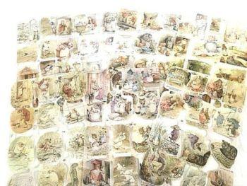 SCRAP SET 24:  x 7 Beatrix Potter Mrs Tiggywinkle Benjamin Bunny etc