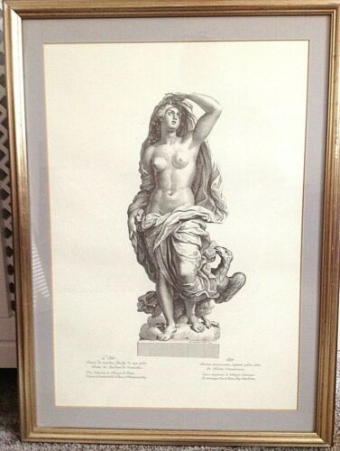 Antique classical print Diane beautifully framed very decorative one of a s