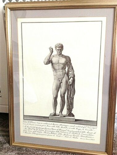 Antique classical print L'air beautifully framed very decorative one of a s