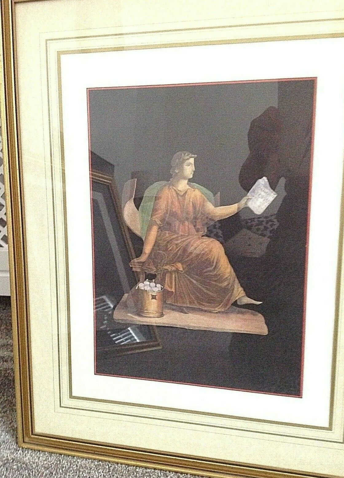Antique classical print Venus beautifully framed very decorative one of a s