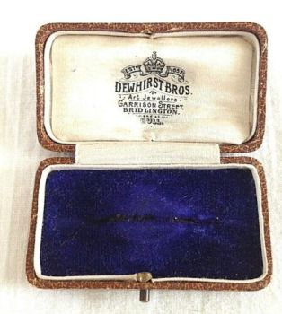 Antique Display Box brooch pin Dewhurst Bros Bridlington Hull
