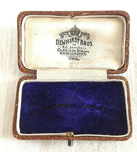 Antique Blue Velvet Jewellery Display Box H A Briault