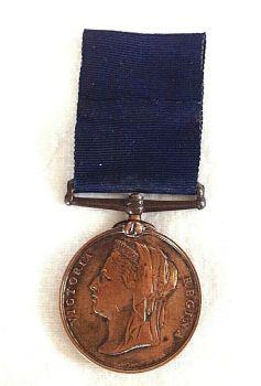 Antique medal Metropolitan Police PC J Frost Thames Division 1887 Jubilee