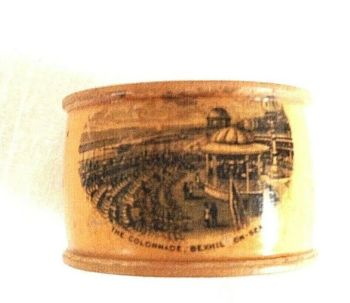 Antique Mauchline ware treen Napkin Ring The Colonnade Bexhill On Sea