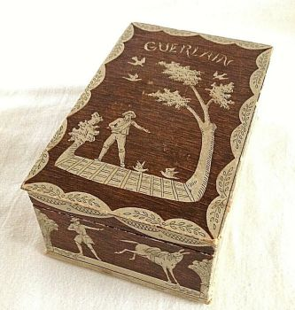 Vintage Antique Perfume Scent Bottle Display Box Guerlain Mitsouko C1919