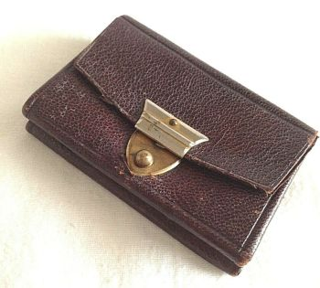 Vintage Antique leather coin purse