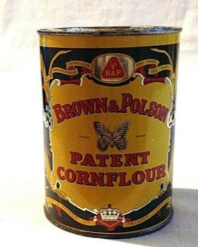 Antique Vintage advertising tin Brown and Polson Cornflour