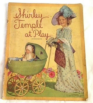 vintage Shirley temple picture book AT PLAY pictures and stories