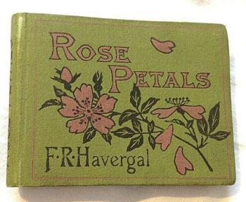 Antique book Rose Petals Miniature Marcus Ward F R Havergal 1885 Victorian