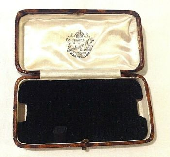 Antique Jewellery watch display box Eustance and co Warrington goldsmiths