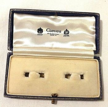 Antique cuff links Jewelry jewellery display box Gieves Old Bond St London