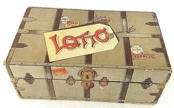 Antique Lotto game miniature suitcase J W S & S Bavaria
