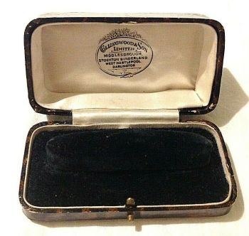 Antique jewellery display watch box Collingwood & Sons Darlington Stockton