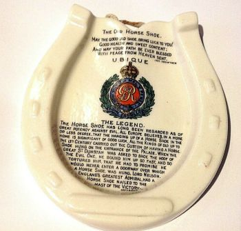 Antique crested china horse shoe Royal Engineers Goss