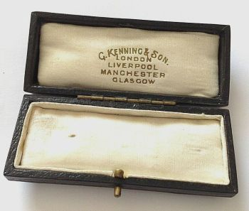 Antique Jewellery display box brooch or stick pin G Kenning Liverpool Manchester