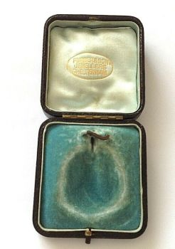 Antique Jewellery display box pendent locket or medal Furber & Son Cheltenham