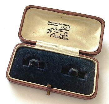 Antique Jewellery display box cuff links H Goddard Street Somerset