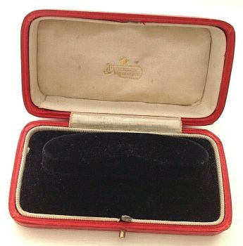 Antique red Vickery of Regent Street London Watch display box