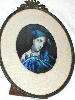 Antique Art Nouveau Signed Sarlandie Limoges Enamel Picture