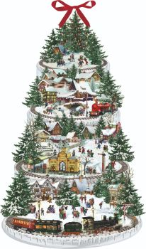 Advent Calendar Christmas Railway Glittered