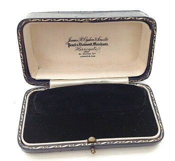 Antique Jewellery watch James R Ogden Harrogate Duke St London display box
