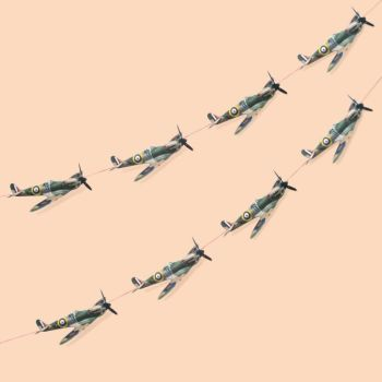 Spitfire Airplane Garland Decoration