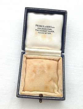 Antique jewellery Display box Pearce & Sons Leicester