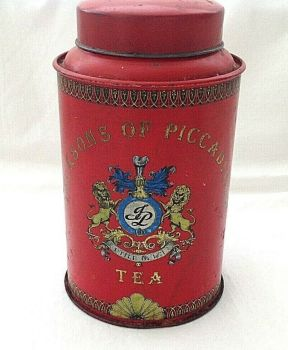 Antique Vintage advertising Jacksons Piccadilly tea caddy
