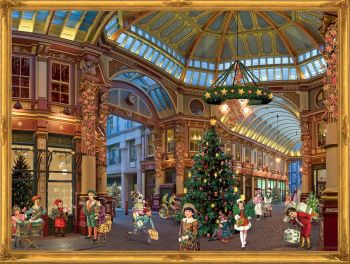 Advent Calendar Father Christmas Santa Victorian Shop Mall