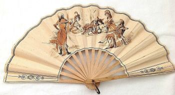 Antique Cafe advertising fan France French Toulouse