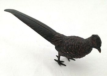 Antique cold painted bronze pheasant signed Austrian ?