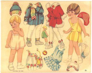 Cut out sheet Dress Me Paper doll 10368