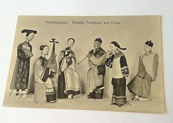 Antique post card German Rehse & Co Chinese bound foot Lotus shoes & costume