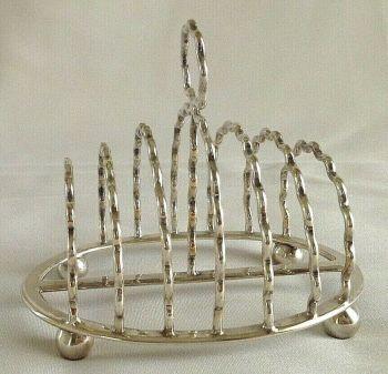 Antique elegant silver plated toast rack Walker & Hall Edwardian