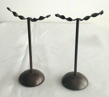 Antique brass shop fittings shoe display stands