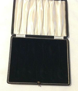 Antique fitted display box for six silver spoons