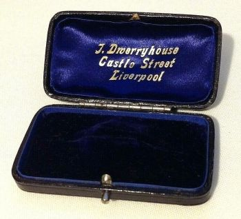 Antique display Jewellery box brooch pin J Droerryhouse Liverpool
