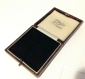 Antique Jewellery display box brooch pendent Davidson & Sorley Glasgow