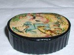 Antique Victorian Snuff Box Papier Mache