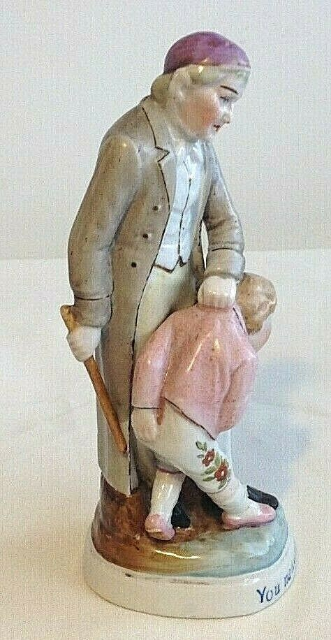 Antique German Conti Boheme fairing pair dirty girl naughty boy
