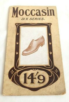 Antique Art Nouveau shoe boot advert advertising shop fitting