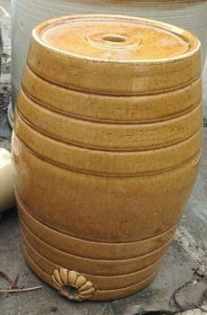 Antique Victorian Doulton Lambeth stoneware cider or water barrel