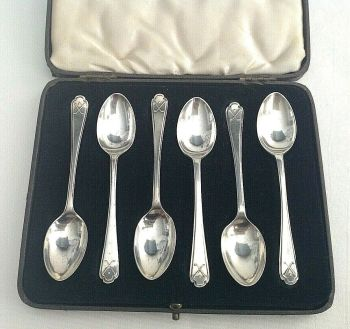 Vintage sterling silver golf club spoons hallmarks Sheffield 1932 & 1933