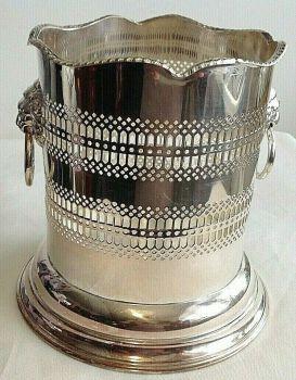 Antique silver plated wine bottle or magnum champagne holder