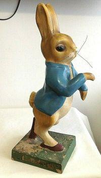 Antique Vintage Peter Rabbit Beatrix Potter advertising figure book shop