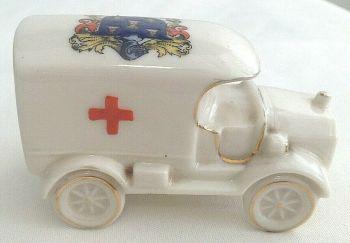 Antique WW1 crested china ambulance Arcadian Reading
