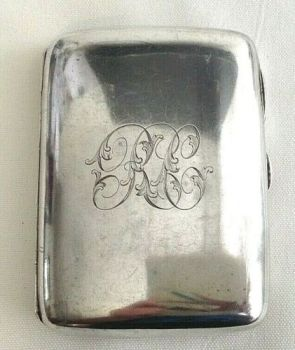 Antique sterling silver hallmarked 1903 cigarette case