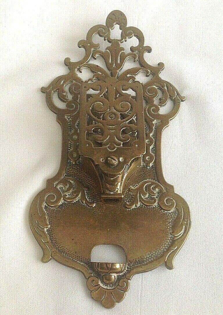Antique Victorian door knocker & letter box lozenge mark