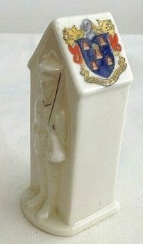 Antique WW1 crested china Sentry crest Borough of Redding soldier Arcadian